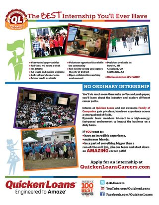 Quicken Loans Internship Flyer (2)