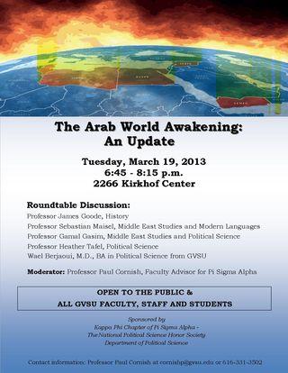 Arab awakening 2013