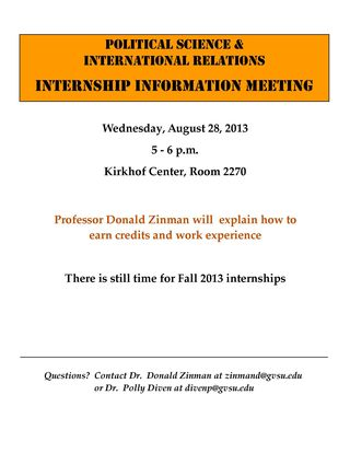 INTERNSHIP INFORMTION MEETING 2013[1]