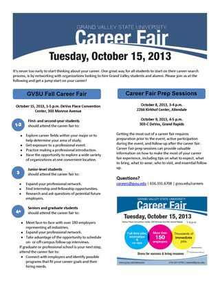 Fall 2013 Career Fair