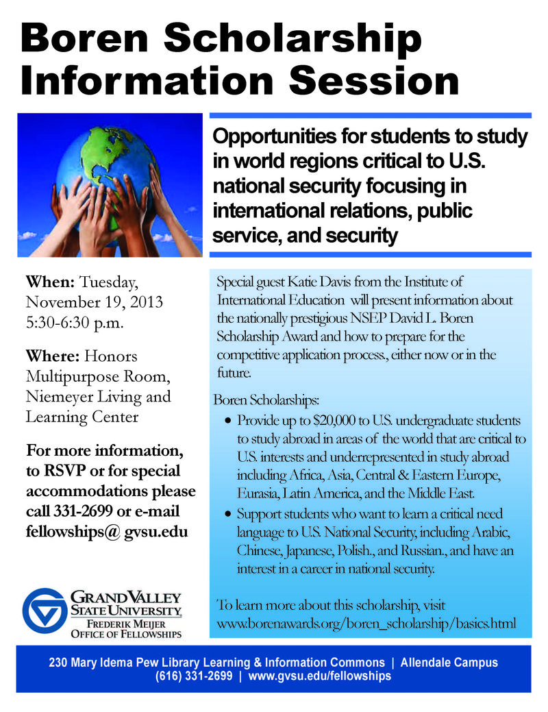 Boren Information Session Flyer Nov 19