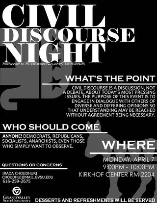 CIVIL DISCOURSE NIGHT 2 POSTER